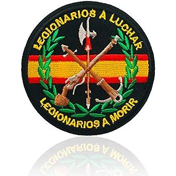 BANDERA DEL PARCHE BORDADO PARA PLANCHAR O COSER (Emblema Militar Legionario 7.5cm): Amazon.es: Hogar
