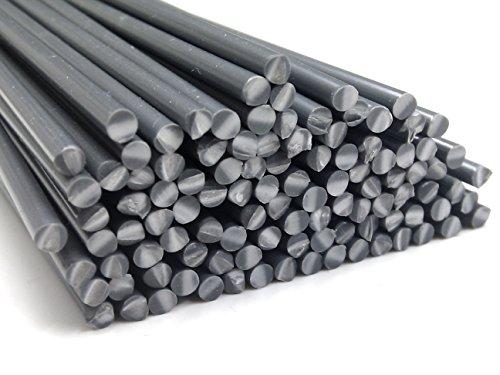 Kunststoffschweißdraht PVC-U Hart 3mm Rund Grau 25 Stäbe