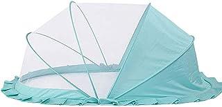 WBHD Tipi-tält för barn babysäng myggnät bärbart hopfällbart pop-up myggnät (grön)