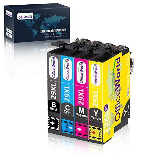OfficeWorld Cartucce Compatibili Sostituzione per Epson 29XL Cartucce d'inchiostro Lavorare con Epson Expression Home XP-235 XP-332 XP-335 XP-432 XP-435 XP-247 XP-445 XP-442 XP-345 XP-342 XP-245