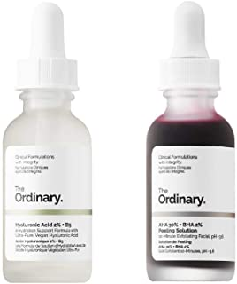 Best The Ordinary Peeling Solution And Hyaluronic Face Serum! AHA 30% + BHA 2% Peeling Solution! Hyaluronic Acid 2% + B5! Help Fight Visible Blemishes And Improve The Look Of Skin Texture & Radiance! Review