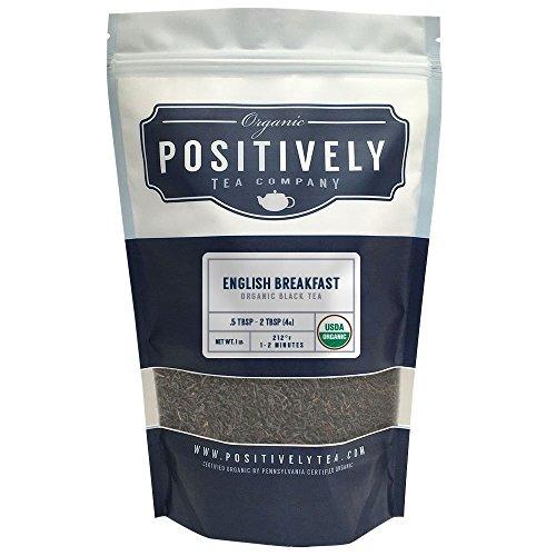 Positively Tea Company Organic English Breakfast Black Tea Loose Leaf USDA Organic 1 Pound Bag