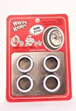 Hoppin Hydros 4 Low Pros Profile Old Style Whitewall Tires (for Hobby Model Kits) 1/24 1/25 Scale