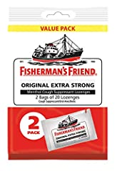 Legendary strength since 1865 - Fisherman's Friend Original Extra strong lozenges use the same All natural, strong and effective formula that's been in production since 1865. Our Medicated lozenges have been tried and trusted for Generations! Our leg...