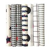 BIKHYY 7 Stück Baumwollstoff 100% Baumwolle Patchwork