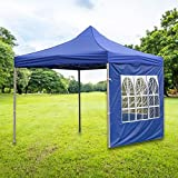 rosemaryrose Carpa plegable impermeable de 3 x 3 m para fiestas, toldo al aire libre con paredes laterales, panel de pared instantáneo a prueba de lluvia para tiendas de campaña al aire libre