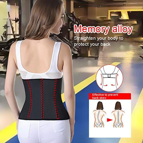 Emoshayoga Faja para el Cuerpo con Corrector de Espalda y Banda para el Vientre para controlar la Barriga y Mejorar la Postura de Las Mujeres para la Belleza(XXXL)