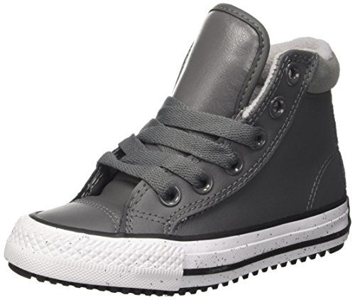 Converse Ctas Hi PC Leather, Sneaker a Collo Alto Unisex – Bambini, Grigio (Thunder/Black/White), 30 EU