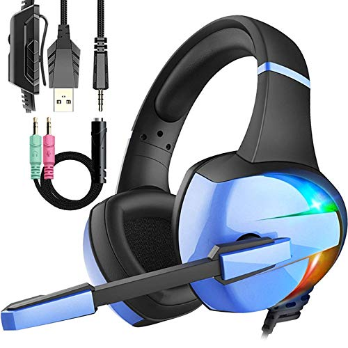 Wired pro Gaming Headset with Mic for Kid's Boy's Teen's Gifts, Over-Ear Gaming Headphones with Crystal Stereo Bass Surround Sound, PS4 Headset for PC Xbox One, Switch, Laptop, Mobile Phone