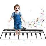 sanlinkee Alfombra Musical,110 x 36cm Alfombra Piano para Niños Alfombrilla de Baile Teclado Estera de Alfombra Piano de Suelo Portátil Educativo Musical,Regalo Ideal para Bebés Niños Niñas