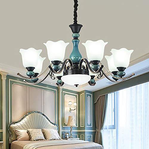 RXT Amerikanische Lampe Haushalt modernen Wohnzimmer Kronleuchter Europäische Duplex Boden Schlafzimmer Lampe einfache Esszimmer Lampe Saug Hänge Dual-Zweck-Lampen