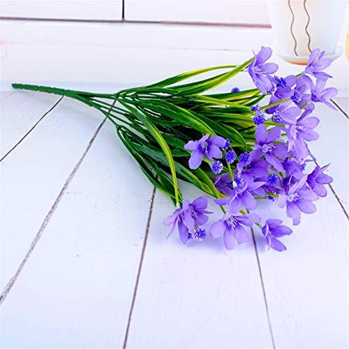 ZJJZH Artificiale Fiori Decorativi Fiore Artificiale Finto Fiore Orchidea Piccolo Fresco casa Posto Fiore Studio Puntelli Orchidea Fiore Falso 33 cm Fiore Prodotti includono:Fiori Artificiali。