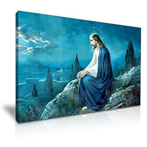 Oración de Jesús Religiosa Católica lienzo para la pared Art print (76x 50cm