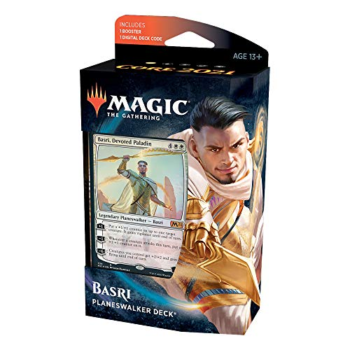Magic: The Gathering Basri Ket, Devoted Paladin Planeswalker Deck   Core Set 2021 (M21)   60 Card Starter Deck