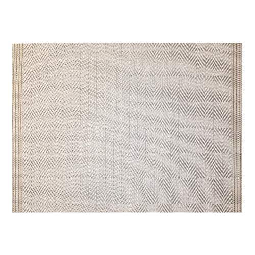 Winkler - Set de table - Décoration table - Tapis de table - Résistant chaleur - Antidérapant - Entretien facile - 75% PVC 25% Polyester - Ivoire/or Blanc - Archi