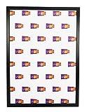 Vivarti Sottile Matt Nero Cornice, A2 Dimensione, 59.4 x 42 cm,