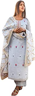 Indian Ready to Wear Cotton Pant Kurti Dupatta Women Party Wear Dress 410g