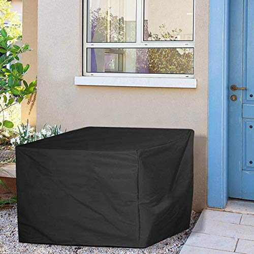 Premium quality Garden-Furniture-Covers,-Waterproof,-Anti-UV,-Heavy-Duty-420D-Oxford-Fabric-Rattan-Furniture-Cover-for-Cube-Set,-Patio,-Outdoor-(125x125x74cm)---Black(rattan furniture covers)