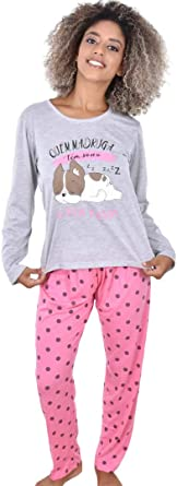 Pijama Ayron Longo Feminino Adulto Estampado | Amazon.com.br