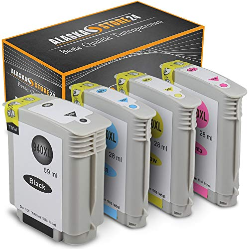 Set van 4 inktcartridges, compatibel met HP 940 XL 940XL, zwart, cyaan, magenta, geel), voor HP Officejet Pro 8000 8500 A909A 8500A A910A printer cartridges