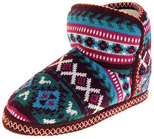 Botas Dunlop para Mujer, Color Verde Burdeos, Zapatillas 38/39 EU