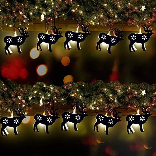 Weihnachten Saisonale Dekoration Lichterkette -Rentier LED-Leuchten - 10er Pack - Ideal für Ihre Weihnachts dekoration für Partys, Events und mehr, weihnachtsbeleuchtung, weihnachtsbaum deko