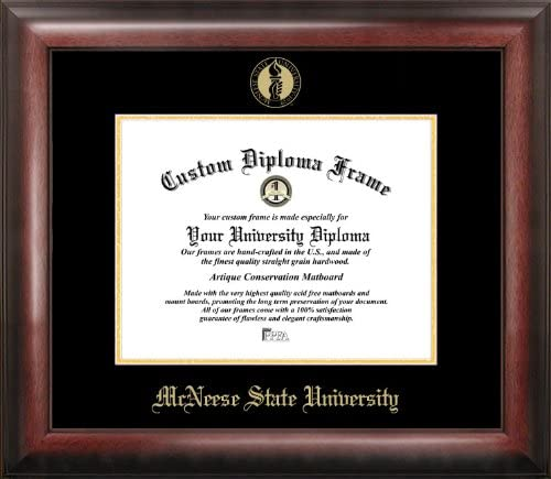 Max 53% OFF Campus Images McNeese State NEW before selling ☆ University Gold Embossed Fra Diploma