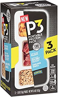 Planters P3 Portable Protein Pack, Maple Glazed Ham Jerky, 3 Count