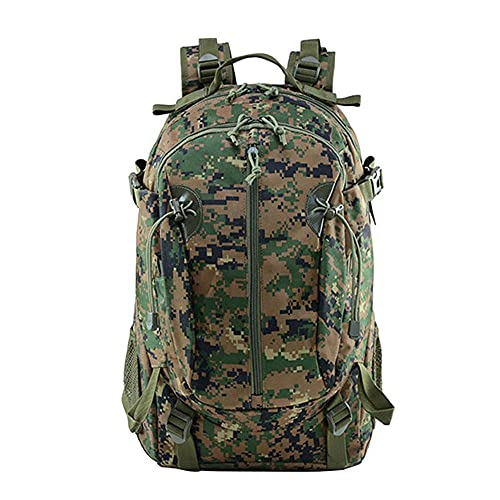 40L Camping Backpack Bag Hiking Climbing Rucksack Waterproof Trekking Camouflage Army Backpak Outdoor Daypack-Jungle Digital