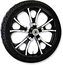 Coastal Moto METLGO213BC Precision Cast Largo 3D Front Wheel with Tire - 21x3.5 - Black