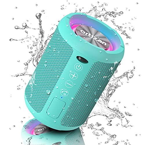 Ortizan Altavoz Bluetooth Inalámbrico con Luz LED, Mini Altavoces Portátiles Rich Bass,...