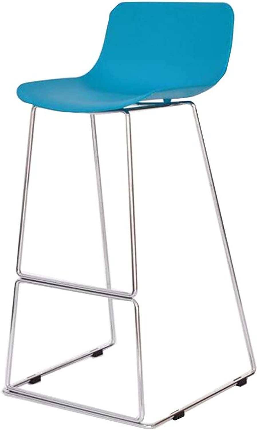 XUERUI Barstools Bar Stools, Bar Chair, High Chair, Reception Chair, Iron Art, Modern Simplicity Household Bar Counter - Multi-color Optional Strong Stability (color   bluee, Size   H 65CM)