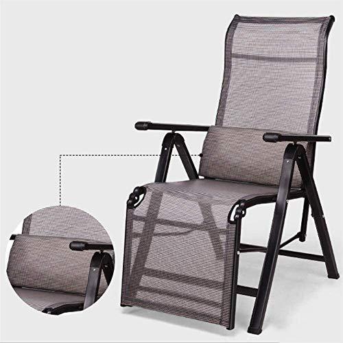 Aoyo Klappstuhl Startseite Lehnstuhl Büro Nap Stuhl Strand-Stuhl Schreibtisch Stühle Sunloungers Zero Gravity Chair Rocking Chair (Color : Black, Size : XLarge)
