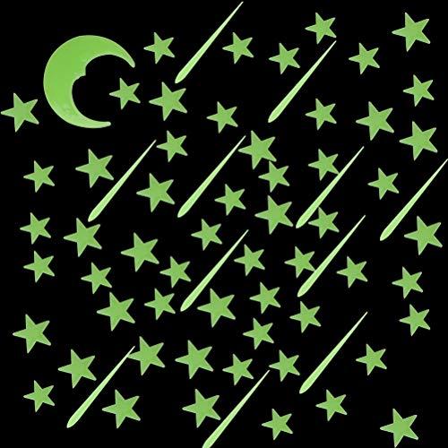 Sumaju - Juego de 213 estrellas que brillan en la oscuridad para niños y niñas