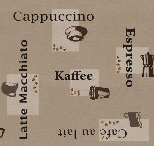 d-c-fix Wachstuch Wachstischdecke Gartentischdecke Tischdecke Kaffee Beige Cappuccino Espresso Breite & Länge wählbar 100 x 140 cm abwaschbar Lebensmittelecht Eckig
