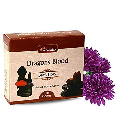 Dragons Blood Backflow Natürliche Räucherkegel 120 Stück in 12er Packung   Bestens für Gebet, Meditation und Entspannung