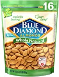 Blue Diamond Almonds, Raw Whole Natural, 16 Ounce