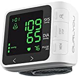 Blood Pressure Monitor Wrist Blood Pressure Machine Digital Automatic BP Cuff with Irregular Heartbeat Detection Backlight Display 2x99 Memory 5.31'-7.68' Adjustable Cuff for Home Use