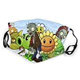 869 Plants Vs Z_Ombies Children'S mouth cover For Girls&Boys Adjustable Washable And Reusable Mouth Dust And Windproof cover, Black, One Size
