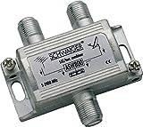 SCHWAIGER -ASW800 531- Einschleussweiche zur Zusammenschaltung von SAT-ZF & terrestrischem Signal | SAT und Terrestrik | Silber