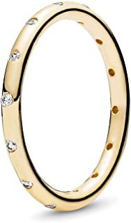 Authentic Droplets Stackable 14k Yellow Gold Ring, 150178CZ