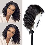 Odir Body Wave Bob Lace Front Wigs Human Hair Wig For Black Women Brazilian Virgin Hair 4X1 T-Part Lace Closure Wig 150% Density Pre Plucked with Baby Hair Natural Color(12, T-Part Wigs)