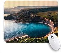 EILANNAマウスパッド ハイランド地方のシックな自然に囲まれた湾の風景湾のU字型と弧の海 ゲーミング オフィス最適 高級感 おしゃれ 防水 耐久性が良い 滑り止めゴム底 ゲーミングなど適用 用ノートブックコンピュータマウスマット