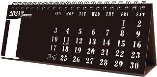 トライエックス 卓上 BLACKスリムスケジュール 2021年 カレンダー 黒 卓上 CL-652