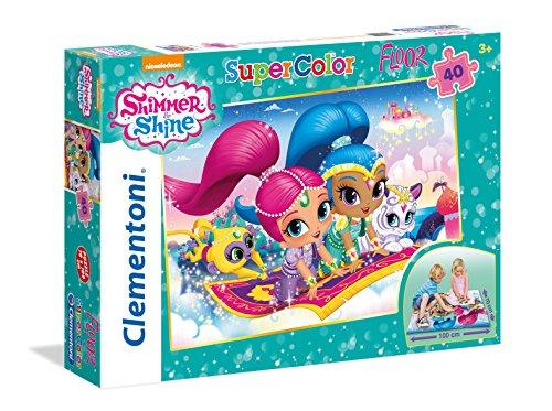Clementoni - Puzzle Suelo 40 Piezas Shimmer&Shine (25451)