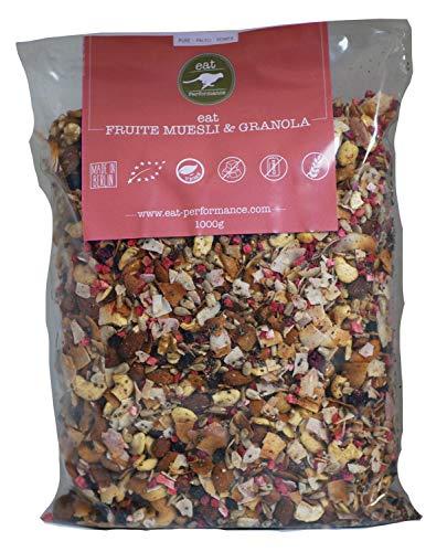 eat Performance® Früchte Müsli (1000g) - Bio, Paleo, Glutenfreies Granola Aus 100% Natürlichen Zutaten