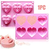 Fya Chocolate Mold, Special 3D Diamond Heart Love Shape Cake Mould, 100% Food-Grade Silicone Mold,...