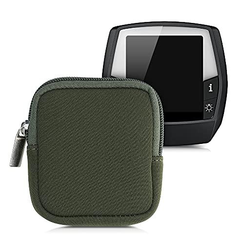 kwmobile Tasche kompatibel mit Bosch Intuvia - E-Bike Computer Neopren Hülle - Schutztasche Dunkelgrün