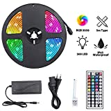 Ruban LED 5050 RGB Étanche 300leds, Elekin 5M Kit de Bande LED Multicolore...