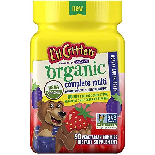 L'il Critters Organic Complete Multivitamin Gummies for Kids, 90 Count - Non-GMO, Gluten-Free,...